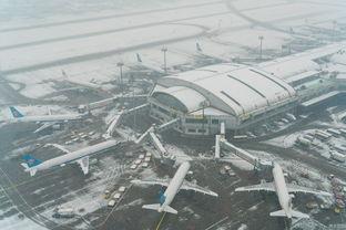 北京首都机场多地航班因大雪取消