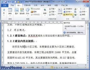 在Word2010文档中设置首字下沉或悬挂