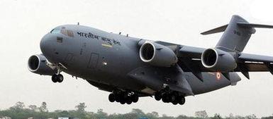 印度c-17正在降落
