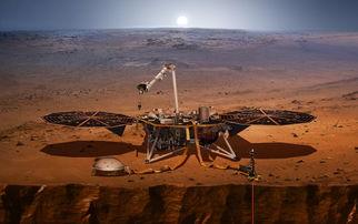 洞察号着陆火星工作示意图