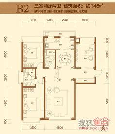 两房户型图实例