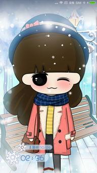 小希穿过冬日雪花