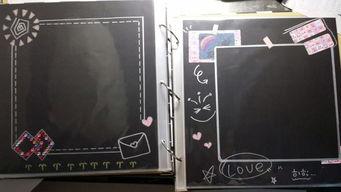 DIY相册 黑卡素材 手绘 素材 来自萌萌哒