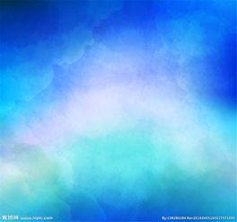 蓝色水彩天空背景矢量素材图片