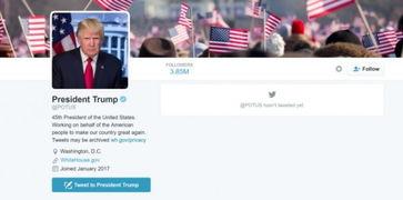 @potus(presidentoftheunitedstates)推特上美国总统的官方账号,昨天,唐纳德·特朗普正式就职第45任美国总统,那么@potus的使用权也将从奥巴马转交给他.