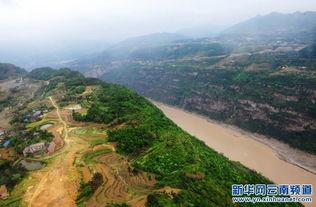 高清图 俯瞰金沙江水富县段峡谷