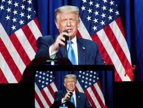 特朗普8月24日在共和党全国代表大会上讲话.
