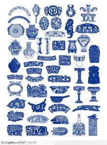 古典青铜花纹矢量素材
