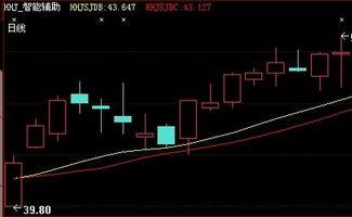 股票曲线图画上红绿黄白线表示什么?