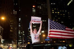 图为特朗普支持者庆祝胜利.