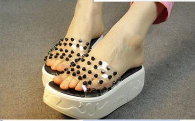 #鞋# 欧美复古风松糕女凉鞋轻松拥有长腿利器