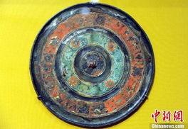 古代清朝墓葬做風水的青銅鏡