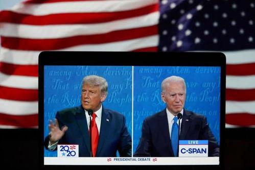 10月22日,美国总统特朗普与民主党总统候选人拜登参加最后一场总统候选人电视辩论.()