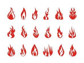 火焰矢量素材cdr火把火光