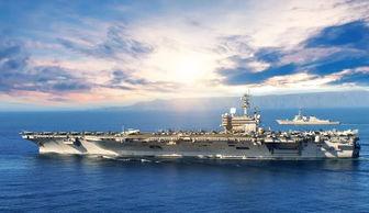 美海军里根号航母实战演练