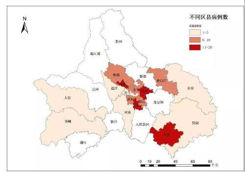 成都市现有确诊病例分布图