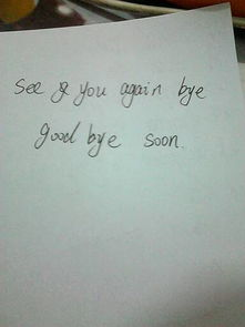 再见用英语怎么写