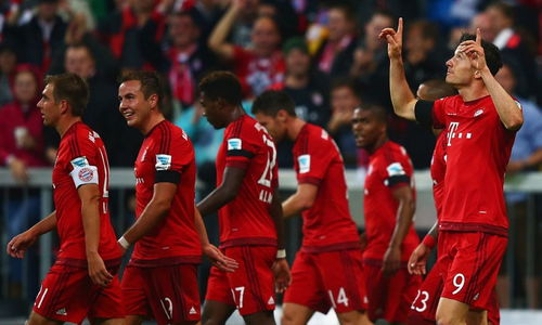 德甲莱万替补出场9分钟轰5球拜仁51逆转狼堡