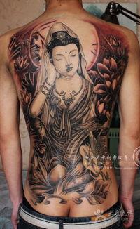 关中刺客纹身 西安纹身关中刺客 满背观音纹身图片 西安丽人