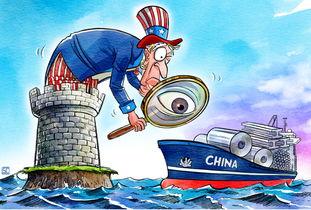 路透社中美贸易战讽刺漫画2018年3月23日,美国发动了对中国的贸易战,随后中国进行了反击.