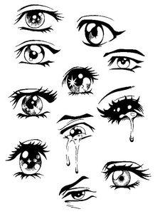 漫画眼睛简笔画