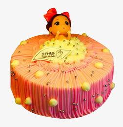 卡通粉色生日蛋糕素材图片免费下载 高清产品实物png 千库网 图片编号5945628