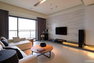 黑白树电视背景墙客厅装修效果图瓷砖背景墙古典树复