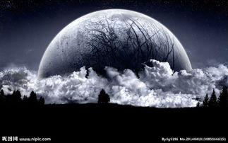 黑色月球图片