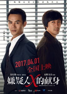 苏有朋翻拍东野圭吾嫌疑人x的献身,王凯林心如张鲁一演绎经典