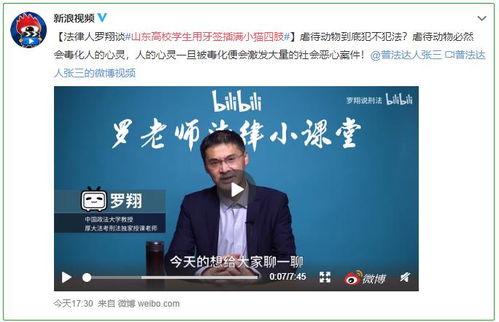 请支持全国人大代表高子程虐待动物影响中国国际形象,建议立法禁止