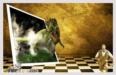 Photoshop合成教程 打造史前恐龙入侵特效