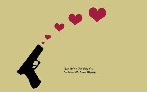 手槍愛情創意設計高清唯美壁紙手機壁紙下載美桌網