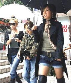 个性短牛仔裤超性感-日本涩谷女孩时尚搭