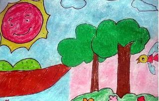 儿童画夏日美景 六一儿童网