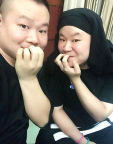 岳云鹏与妹子撞脸