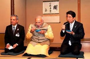 日印两国举行首脑会谈安倍请莫迪体验日本茶道