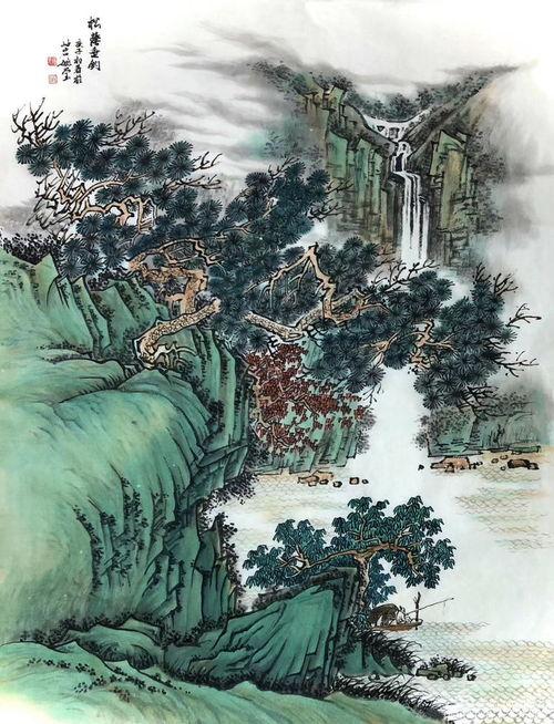 茶叶山水画