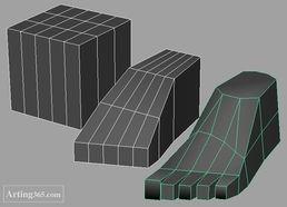 Maya建模教程 脚的建模 三维设计