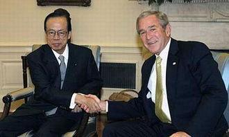 布什会见福田康夫