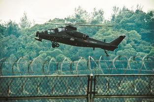 图为武直10武装直升机在珠海三灶机场进行飞行训练。