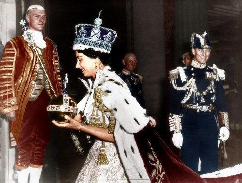 伊丽莎白二世加冕照