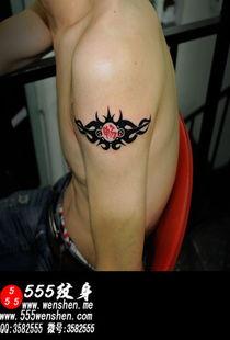 猫图腾纹身小腿彩色刺青图