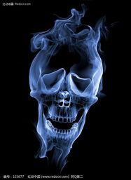 烟雾形成的骷髅头图片免费下载 红动网