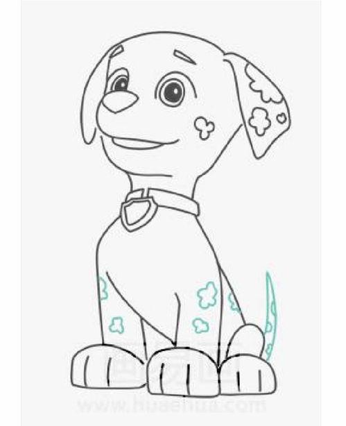 汪汪队怎么画用简笔画(怎样画狗狗的全身简笔画一步一步的教)