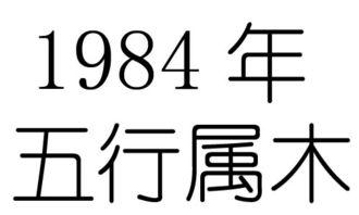 1984年生辰八字五行查询(84年出生五行是什么命)