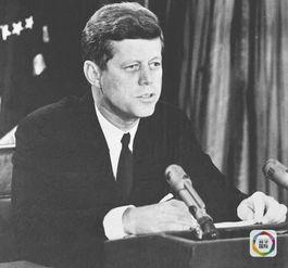 约翰·肯尼迪的资料照片.(新华社发)-谁智商最高 美国历任总统排...