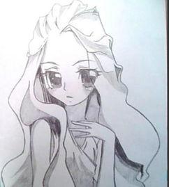 简单铅笔画图片大全 漂亮眼睛女孩