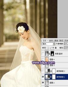 如何用PS调出蓝色怀旧婚片写真效果 云峰轩写真瓷像照片技术学习