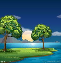 美丽夏天风景图片