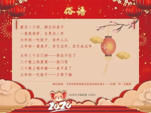 关于新的文化知识(关于春节的传统文化知识要字数少)